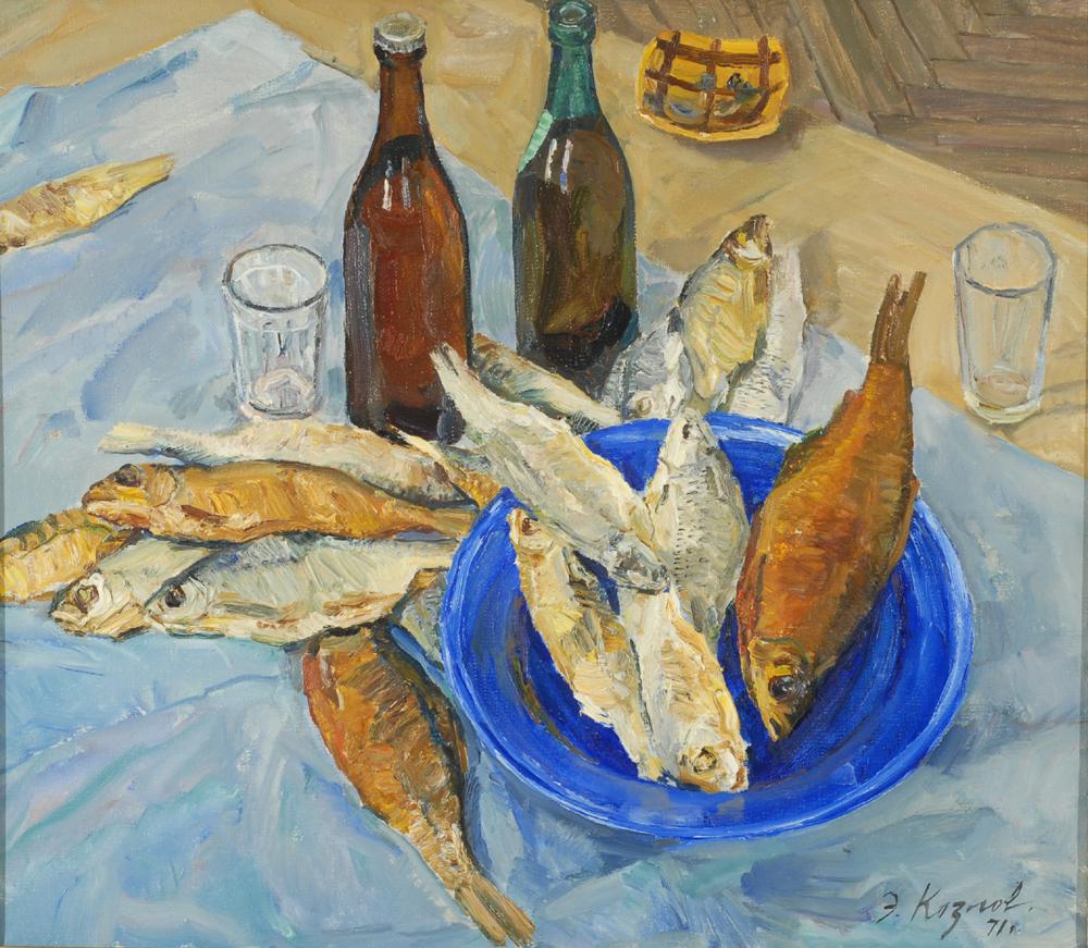 Энгельс Козлов. Вобла на синей тарелке (1971)