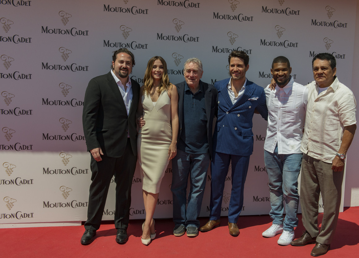 May 16 Photocall casting Hands of Stone on Mouton Cadet Wine Bar©MCWB 2016