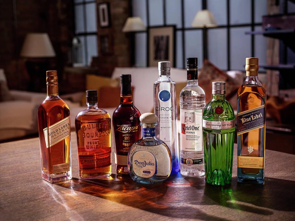 алкоголь портфеля Diageo Reserve, на котором готовят все конкурсные напитки