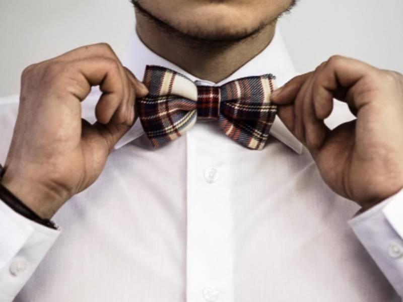 Мужской галстук-бабочка